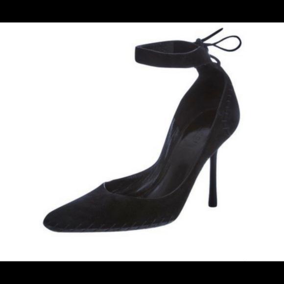 6b58d64079b Gucci Shoes - 🎉Sale🎉Gucci Black Suede Ankle Tie Stilettos❣️